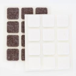 Självhäftande fyrkantig vita möbeltassar
