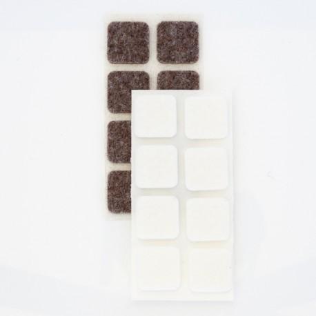 Möbeltassar, självhäftande, fyrkantiga /rektangulära