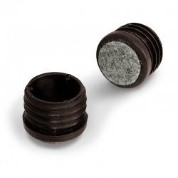 Stolskydd, runda rörskydd med filt
