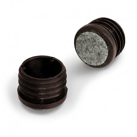 Rörskydd / fotplugg rund invändig med ingjuten filt