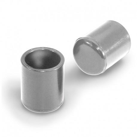 Rörskydd cylindrisk grå plast