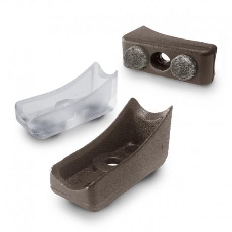 Tippskydd för böjt rörben med filt