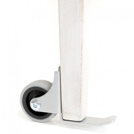 Hjul med tippskydd, monteras bakom främre benpar för att underlätta flyttning av stol/fåtölj