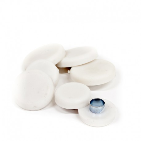 Rörnit med gummi vit