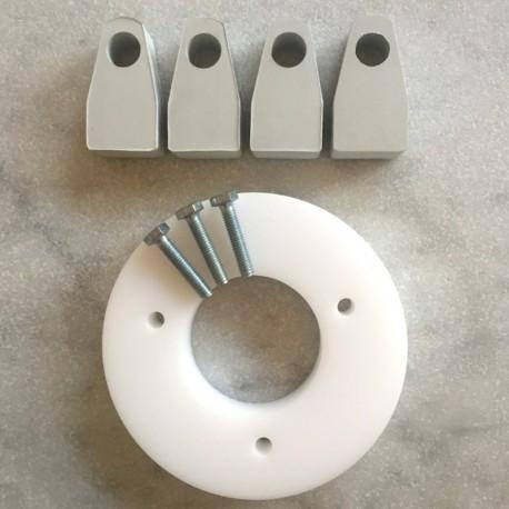 Vit förhöjning till Arne Jacobsen stolar