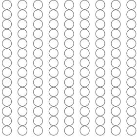 Självhäftande runda filttassar 7 mm
